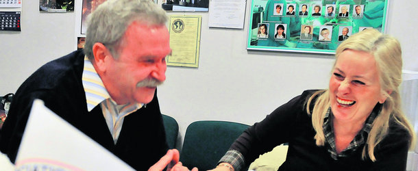Andrzej Cieślik i Małgorzata Rejdych ze stowarzyszenia