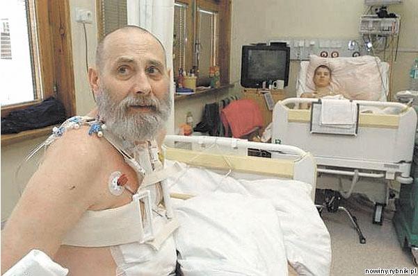 Pacjent z Namysłowa w ósmym dniu po przeszczepie serca (9 listopada 2007)